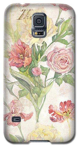 Fleurs De Pivoine - Watercolor In A French Vintage Wallpaper Style Galaxy S5 Case