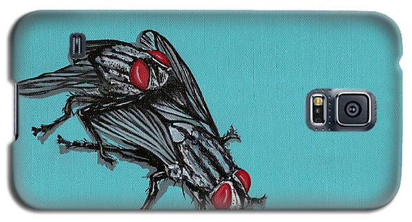 Galaxy S5 Case featuring the painting Flies by Jude Labuszewski