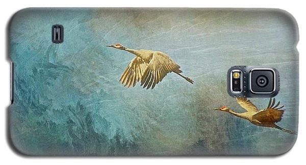 Flight Of Fantasy, Sandhill Cranes Galaxy S5 Case