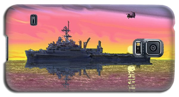 Flight Ops At Sunset Galaxy S5 Case by Donald Maier
