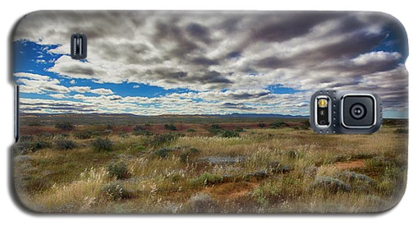 Galaxy S5 Case featuring the photograph Flinders Ranges Fields  by Douglas Barnard