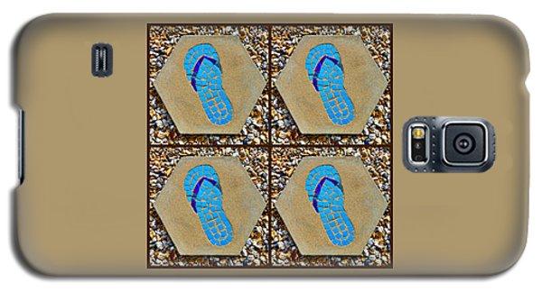 Flip Flop Square Collage Galaxy S5 Case