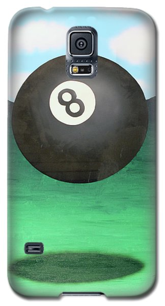 Galaxy S5 Case featuring the painting Floating 8 by Thomas Blood