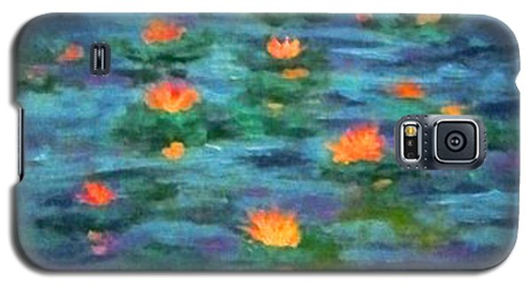 Galaxy S5 Case featuring the painting Floating Gems by Holly Martinson