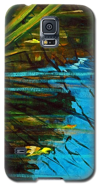 Floating Gold On Reflected Blue Galaxy S5 Case