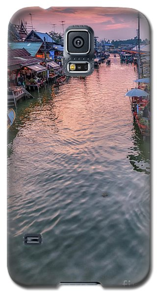 Floating Market Sunset Galaxy S5 Case