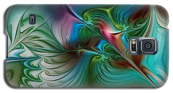 Galaxy S5 Case featuring the digital art Floating Through The Abyss by Karin Kuhlmann