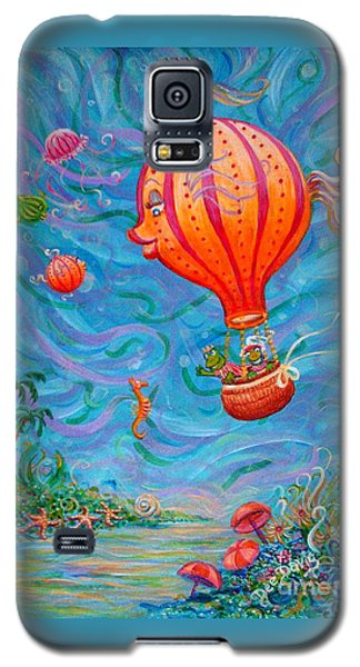 Galaxy S5 Case featuring the painting Floating Under The Sea by Dee Davis