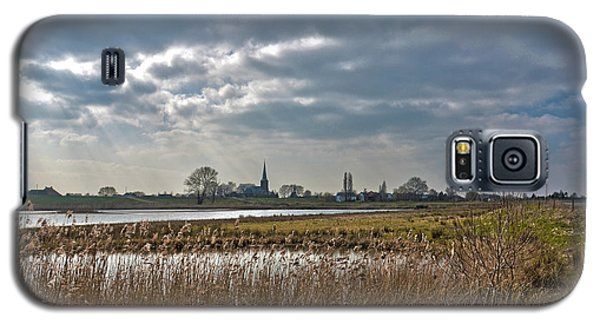 Galaxy S5 Case featuring the photograph Floodplains Near Culemborg by Frans Blok