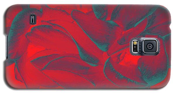 Floral Abstract In Dramatic Red Galaxy S5 Case
