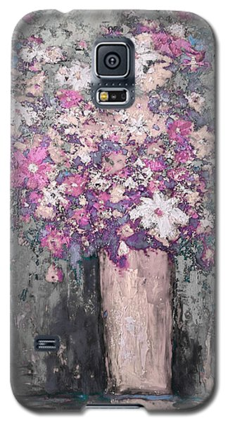 Floral Abstract - Reverse - Modern Impressionist Palette Knife Work Galaxy S5 Case