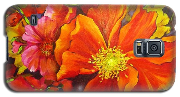Galaxy S5 Case featuring the painting Floral Abundance by Chris Hobel