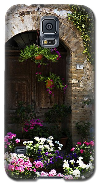 Floral Adorned Doorway Galaxy S5 Case by Marilyn Hunt