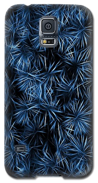 Galaxy S5 Case featuring the painting Floral Blue Abstract by David Dehner
