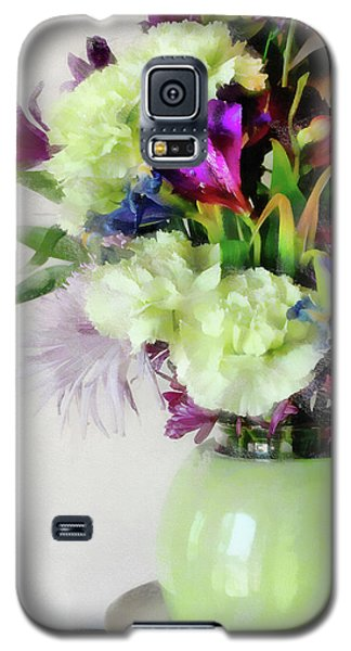 Floral Bouquet In Green Galaxy S5 Case