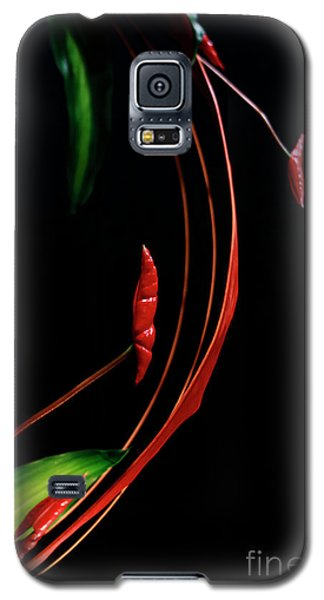 Floral Curve Galaxy S5 Case by Charline Xia