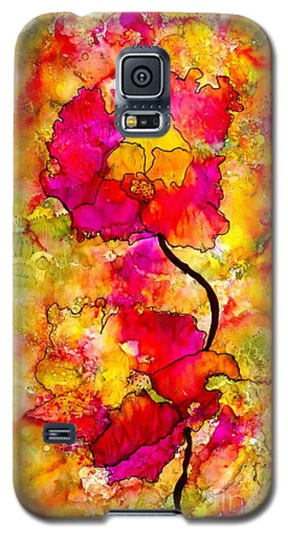 Galaxy S5 Case featuring the painting Floral Duet by Angela L Walker