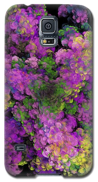 Galaxy S5 Case featuring the digital art Floral Fancy Abstract by Andee Design