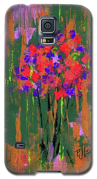 Galaxy S5 Case featuring the painting Floral Impresions by P J Lewis