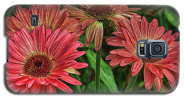 Galaxy S5 Case featuring the photograph Floral Pink by Deborah Benoit