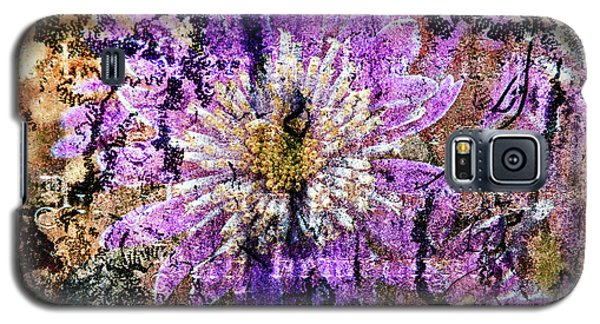 Floral Poetry Of Time Galaxy S5 Case