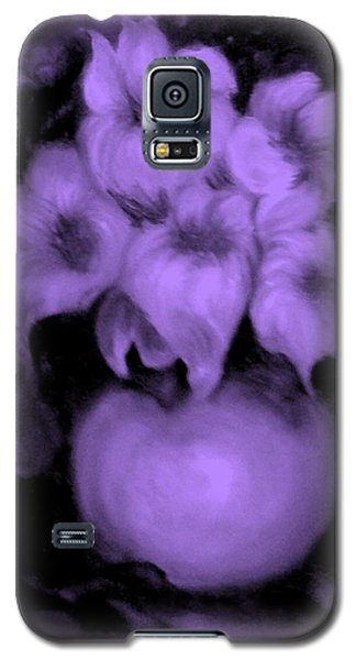 Floral Puffs In Purple Galaxy S5 Case