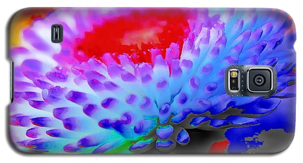 Floral Rainbow Splattered In Thick Paint Galaxy S5 Case