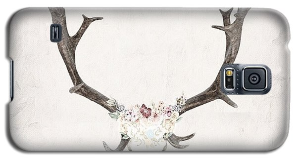 Floral Reindeer Skull  Galaxy S5 Case by Michele Carter
