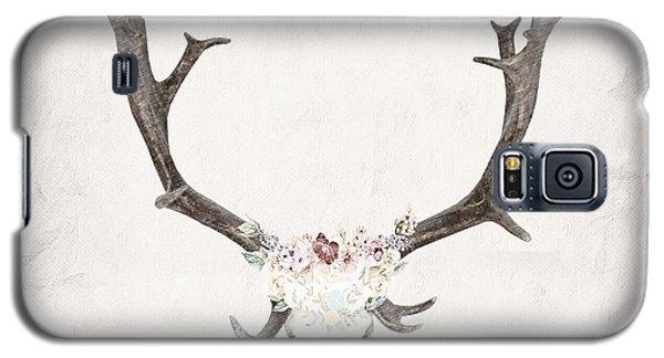 Floral Reindeer Skull  Galaxy S5 Case