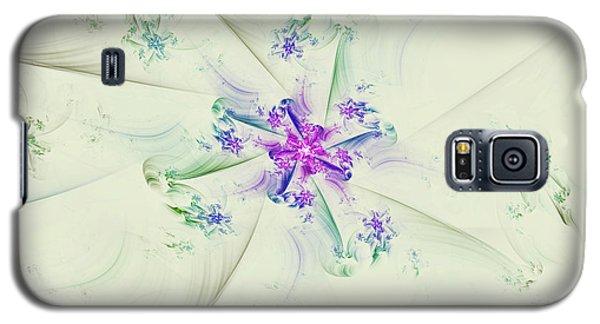 Galaxy S5 Case featuring the digital art Floral Spiral by Deborah Benoit