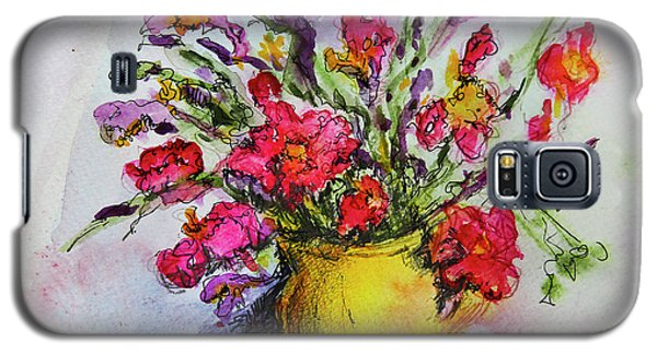 Floral Still Life 05 Galaxy S5 Case by Linde Townsend