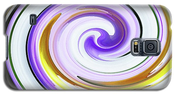 Floral Swirl 3 Galaxy S5 Case by Margaret Saheed