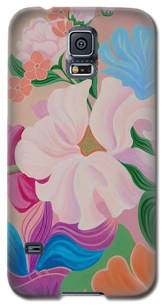 Galaxy S5 Case featuring the painting Floral Symphony by Irene Hurdle