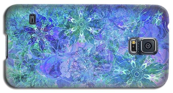 Floral Watercolor Blue Galaxy S5 Case