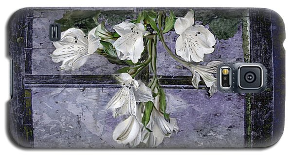 Galaxy S5 Case featuring the photograph Floral Window Frame by Bonnie Willis