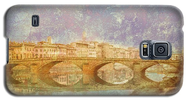 Galaxy S5 Case featuring the photograph Florence, Italy - Ponte Alla Carraia by Mark Forte