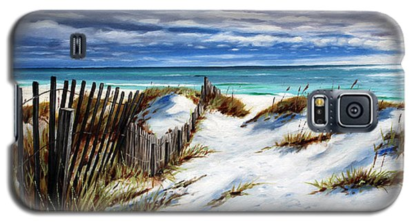 Galaxy S5 Case featuring the painting Florida Beach by Rick McKinney