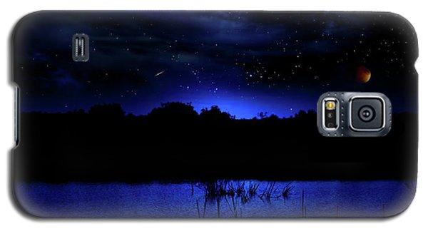 Florida Everglades Lunar Eclipse Galaxy S5 Case by Mark Andrew Thomas