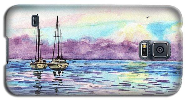 Galaxy S5 Case featuring the painting Florida Keys Islamorada Shore by Irina Sztukowski