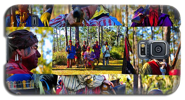 Galaxy S5 Case featuring the photograph Florida Seminole Indian Warriors Circa 1800s by David Lee Thompson
