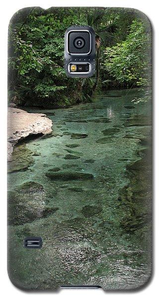 Galaxy S5 Case featuring the photograph Florida Spring Run by Peg Urban