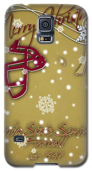 Florida State Seminoles Christmas Card 2 Galaxy S5 Case by Joe Hamilton