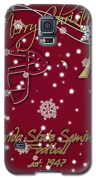 Florida State Seminoles Christmas Card Galaxy S5 Case by Joe Hamilton