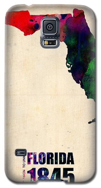 Florida State Galaxy S5 Case - Florida Watercolor Map by Naxart Studio