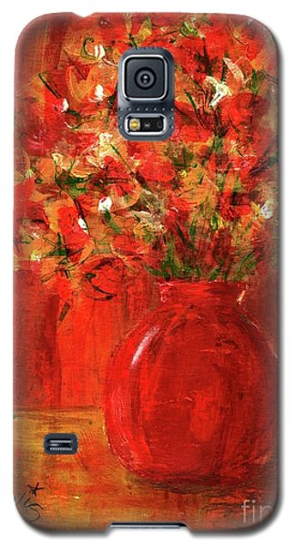 Galaxy S5 Case featuring the painting Florists Red by P J Lewis