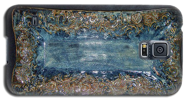 Ceramics Galaxy S5 Cases - Flourish Slab Tray Licorice Glaze Galaxy S5 Case by Carolyn Coffey Wallace