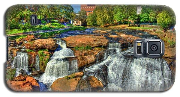 Flow On Reedy River Falls Park Art Greenville Sc Galaxy S5 Case by Reid Callaway