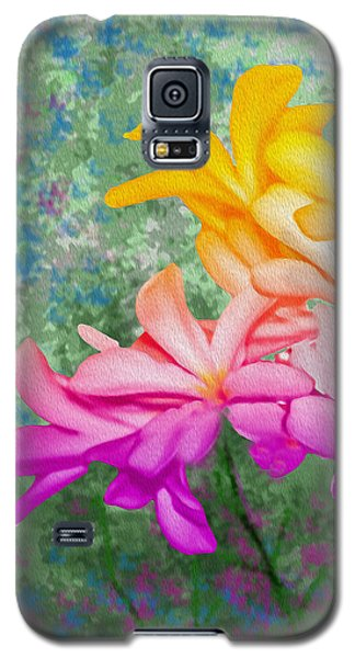 God Made Art In Flowers Galaxy S5 Case