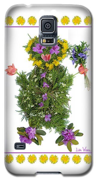 Galaxy S5 Case featuring the digital art Flower Baby by Lise Winne