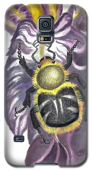Galaxy S5 Case featuring the painting Flower Beetle by Dawn Senior-Trask